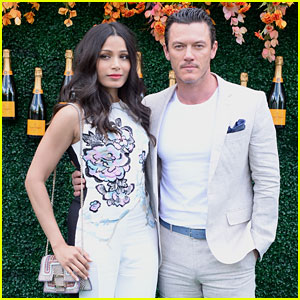 Luke Evans & His 'Beautiful Friend' Freida Pinto Look Sharp at Veuve Clicquot Polo Classic