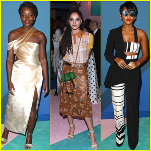 Lupita Nyong'o, Janelle Monae & Sasha Lane Step Out at CFDA 2017!