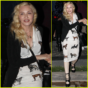 Madonna Attends Diddy's House Party in Beverly Hills
