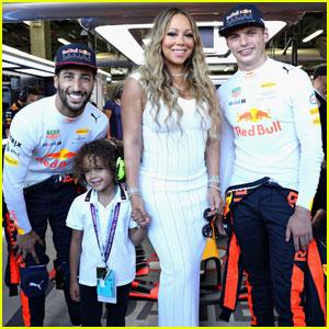 Mariah Carey Brings Son Moroccan to Formula One Grand Prix in Azerbaijan