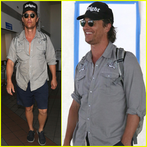 Matthew McConaughey Is 'Alright, Alright' at LAX Airport