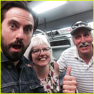 Milo Ventimiglia Takes Cute Selfie With NYC Subway Riders