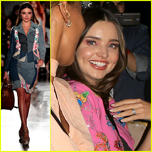 Miranda Kerr Flashes Her Wedding Ring at Moschino Show!