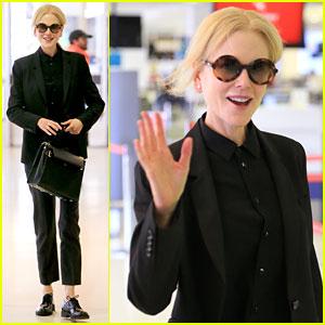 Nicole Kidman Leaves Australia After Likely Filming 'Aquaman'