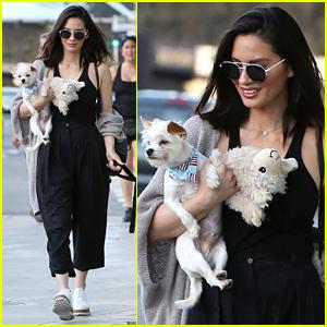 Olivia Munn Walks Dogs Frankie & Chance on Sunset Boulevard