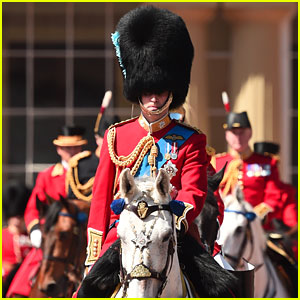 Prince William Attends Rehearsals for Queen's Birthday Parade