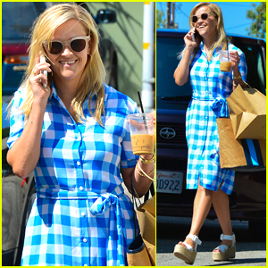 Reese Witherspoon Wears a Dress from Her Draper James Collection in WeHo