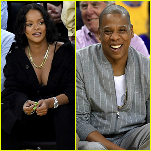 Rihanna & Jay Z Sit Courtside at Game One of NBA Finals