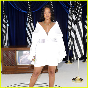 Rihanna Looks Presidential, Posing Among American Flags!