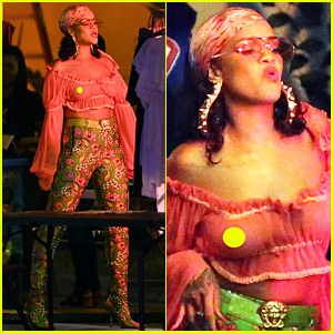 Rihanna's Sheer Top Shows Off Everything