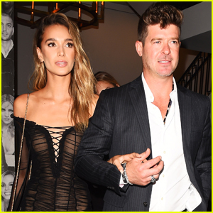 Robin Thicke & Girlfriend April Love Geary Have a Night Out