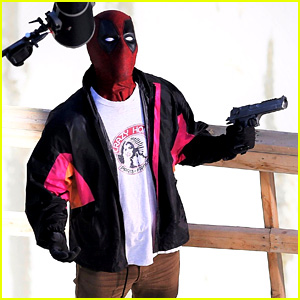 Ryan Reynolds Wields a Gun on 'Deadpool 2' Set