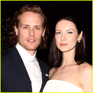 Sam Heughan Has Fun in the Water with Caitriona Balfe at 'Outlander' Wrap Party!