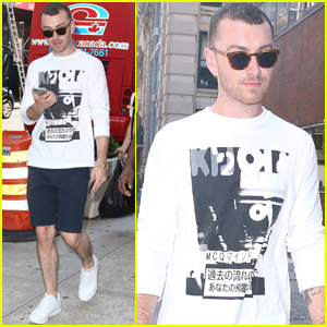 Sam Smith Has a NYC Afternoon With a Pal!