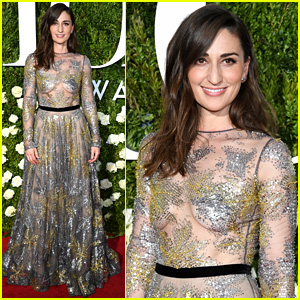 Sara Bareilles Stuns in Sheer Gown on Tonys 2017 Red Carpet