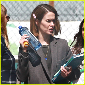 Sarah Paulson Arrives on Set of 'American Horror Story' in WeHo