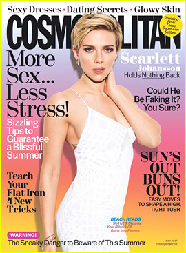 Scarlett Johansson Holds Nothing Back for New 'Cosmo' Issue!