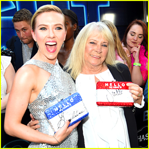 Scarlett Johansson Says She & Lookalike Grandma Got 'Trashed' at 'Rough Night' Premiere (Video)