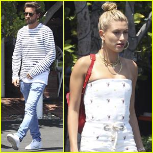 Scott Disick Grabs Lunch with Hailey Baldwin in LA