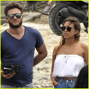 Scott Eastwood Vacations with Female Friend in Spain