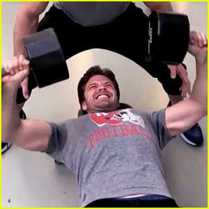 Sebastian Stan's Trainer Shows Fans His Superhero Workout!