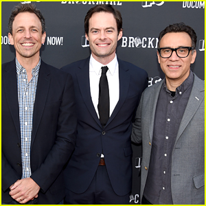 Seth Meyers, Bill Hader, & Fred Armisen Promote Their Show 'Documentary Now!'