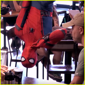 Spider-Man Scares Starbucks Customers During Daring Prank - Watch Now!