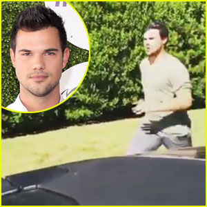 Taylor Lautner Jumps Into a Moving Car All in the Name of Chipotle!