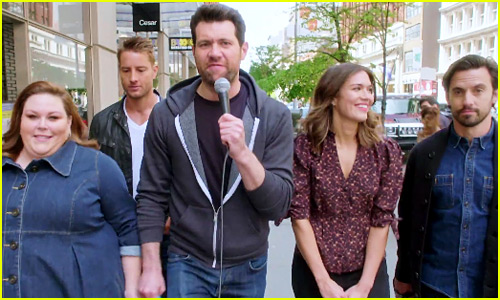 'This Is Us' Does 'Billy on the Street': Mandy Moore Gets Asked Out, Milo Ventimiglia Isn't Objectified & More - Watch Now!