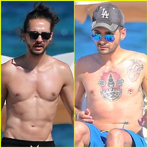 Tokio Hotel's Tom & Bill Kaulitz Go Shirtless in Ibiza!