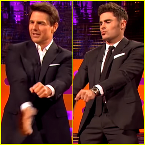 Tom Cruise & Zac Efron Have a Spontaneous Dance Party - Watch Now!