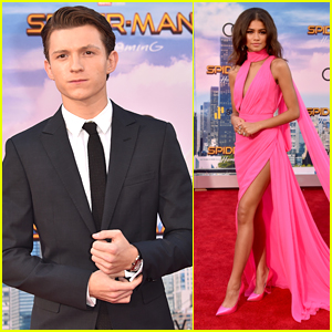 54dd2ae9d76 Tom Holland   Zendaya Premiere  Spider-Man  Homecoming  in Hollywood ...