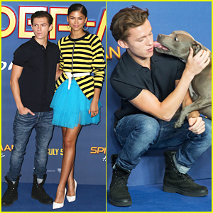 Tom Holland's Pet Pooch Steals The Show At 'Spider-Man: Homecoming' London Photo Call!