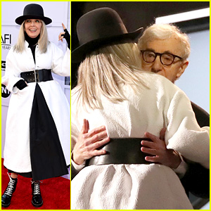 Woody Allen Makes Rare Appearance to Honor Diane Keaton at AFI Gala Tribute!