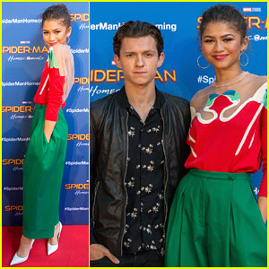 Zendaya & Tom Holland Promote 'Spider-Man' in Barcelona