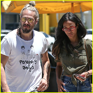 Zoe Saldana & Marco Perego Step Out for Lunch Date