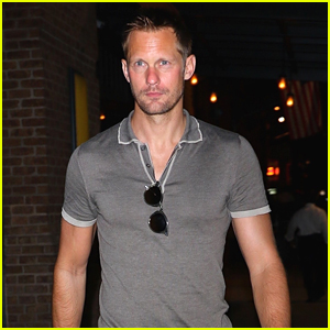 Alexander Skarsgard Steps Out for the Night in NYC