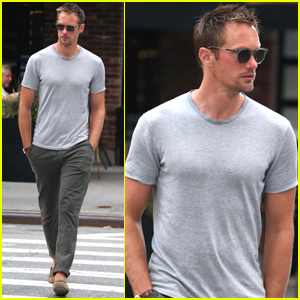 Alexander Skarsgard Steps Out With a Pal in New York City