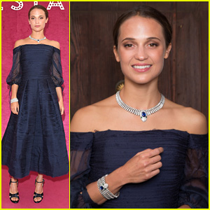 Alicia Vikander Makes Stunning Appearance at Bulgari's Festa!