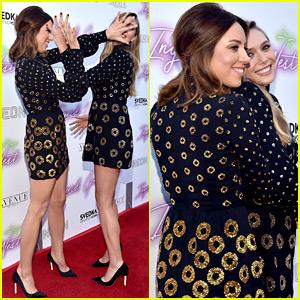 Aubrey Plaza & Elizabeth Olsen Get Playful at 'Ingrid Goes West' Premiere, Wear Same Dress!