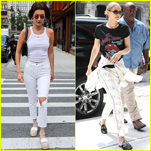 Bella & Gigi Hadid Show Off Their Style in New York City