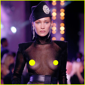 Bella Hadid Wears See-Through Top for Alexandre Vauthier's Paris Show!