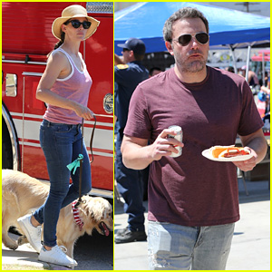 Ben Affleck & Jennifer Garner Take Their Kids to Fourth of July Parade in Brentwood