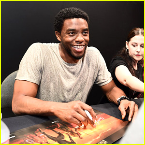 Black Panther's Chadwick Boseman Meets Fans at D23 Expo!
