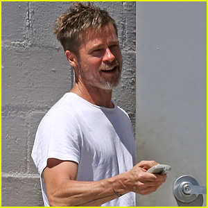 Brad Pitt Shows He's Bulking Up During July 4th Outing!