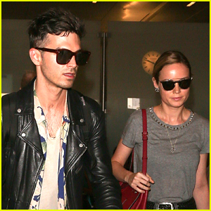Brie Larson & Fiance Alex Greenwald Land in LA After Paris Trip