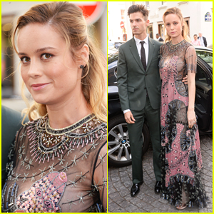 Brie Larson & Fiancé Alex Greenwald Couple Up in Paris for Valentino Fashion Show!