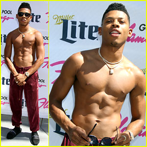 Bryshere Gray Shows Off Ripped Body at Flamingo Pool Party