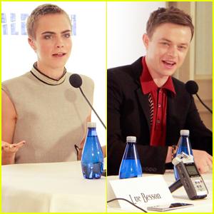 Cara Delevingne & Dane DeHaan Promote Their New Movie 'Valerian' in LA
