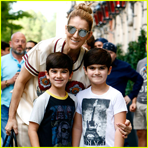 Celine Dion & Her Twin Boys Pose for Cute Photos in Paris!